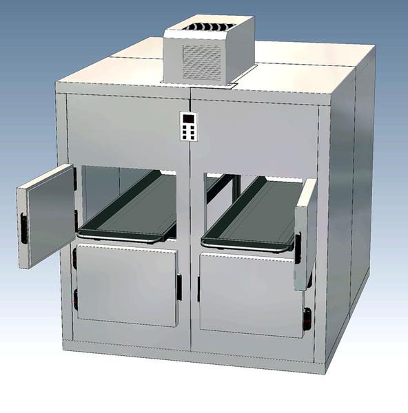 Doppelkühlsystem Leichenkühlzelle